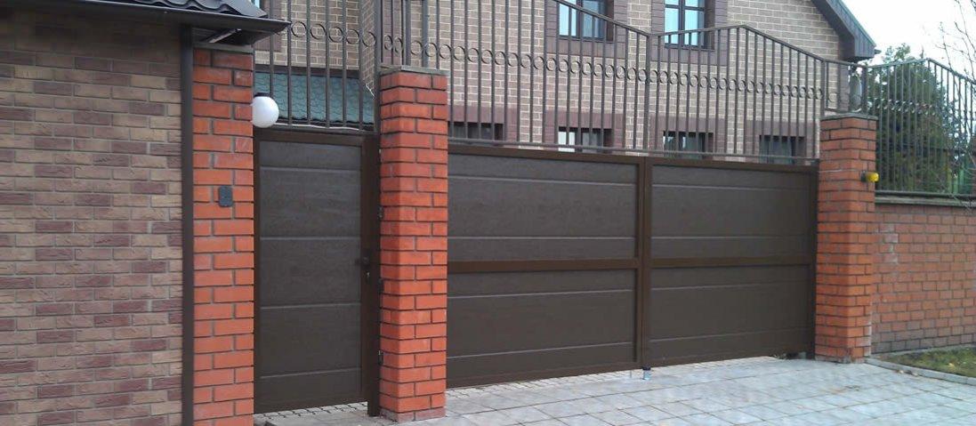 Як вибрати металеві ворота для приватного будинку