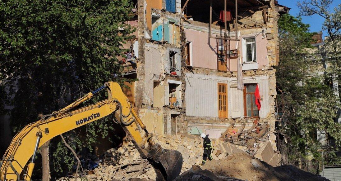 Обвал будинку в Одесі: поліція назвала можливу причину