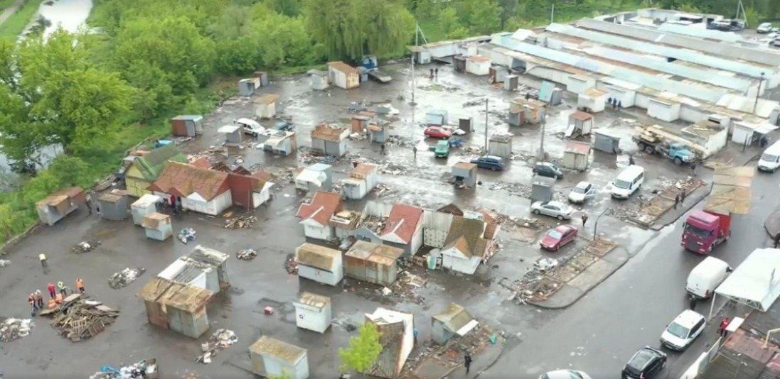 Як зараз виглядає Старий ринок Луцька: відео з висоти польоту