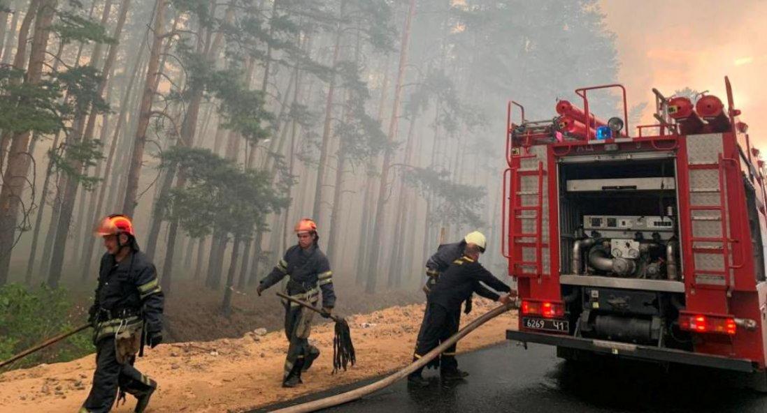 Лісова пожежа на Луганщині: залучили Нацгвардію та ЗСУ