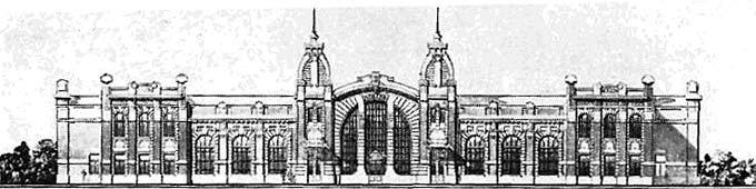 Проект залізничного вокзалу на станції Ковель, 1906 р.