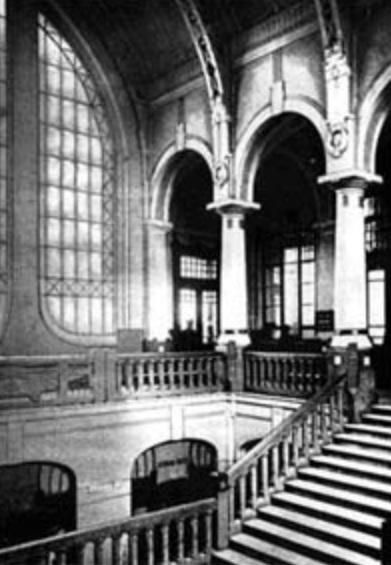 Інтер'єр вокзалу, 1907 р.