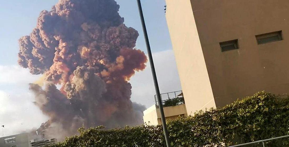 Відео смертоносного вибуху в Лівані