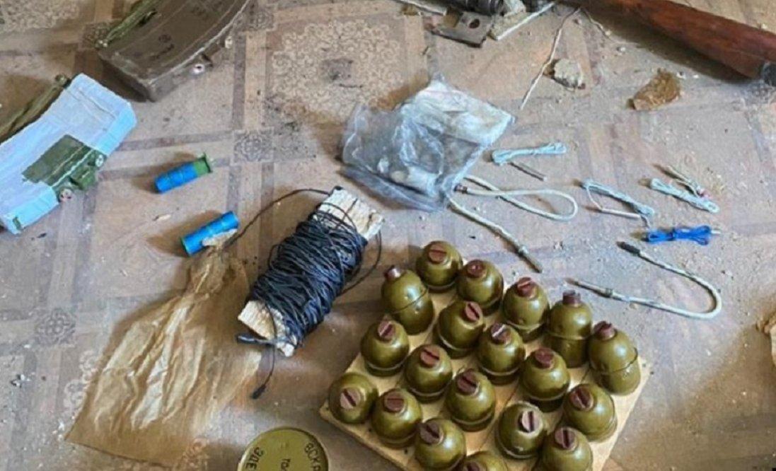 Планували теракт: СБУ виявила схрон з вибухівкою на Донеччині