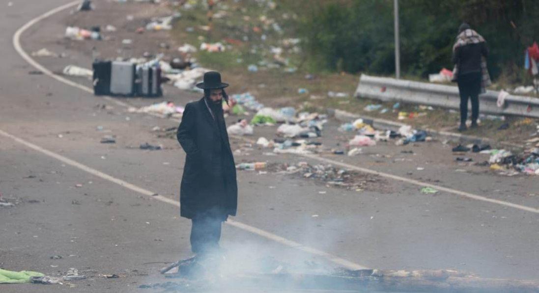 Хасиди залишили територію на кордоні з Білоруссю: навколо - купи сміття