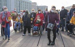 У Білорусі на протести вийшли люди з інвалідністю