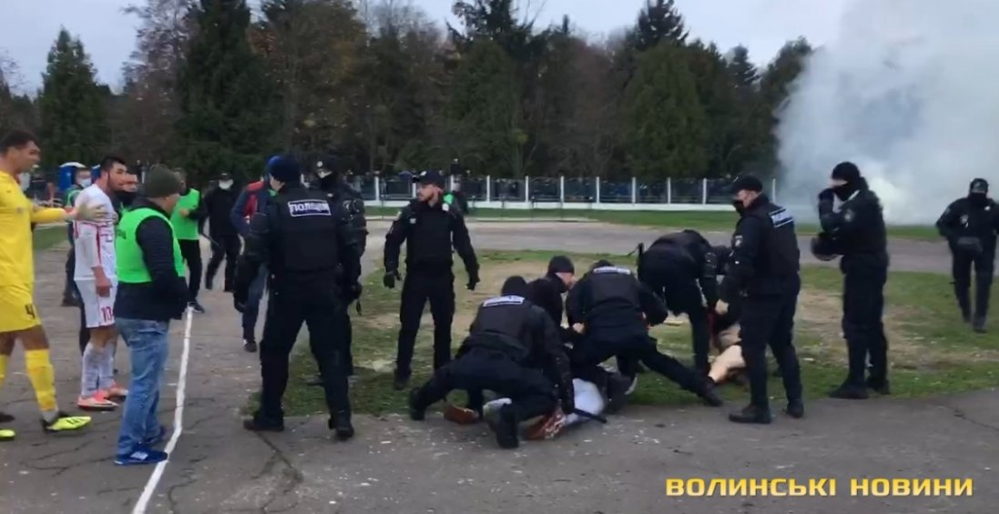 Між фанатами ФК «Волинь» та поліцією стався конфлікт