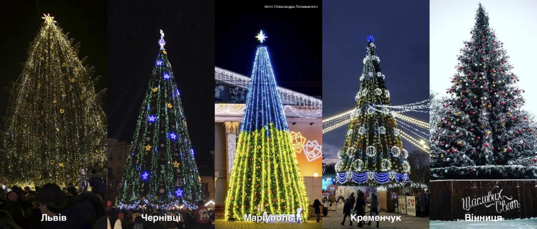Українські міста відмовляються від новорічних ялинок: чому