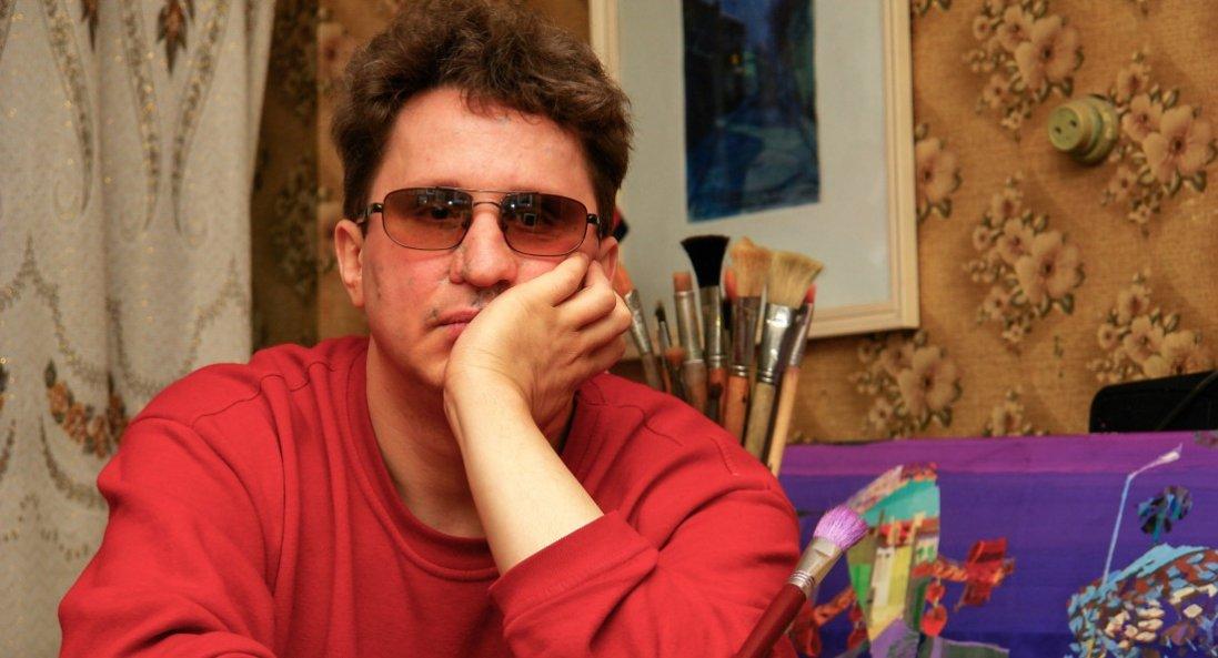 Утративши зір, став відомим художником