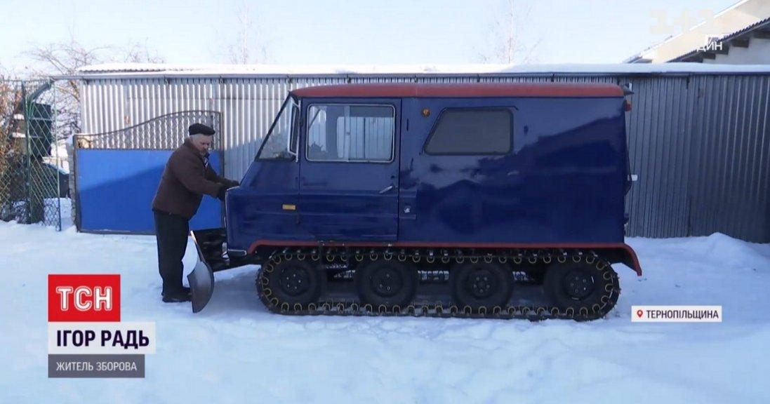 На Тернопільщині майстер зробив з автомобілів снігохід
