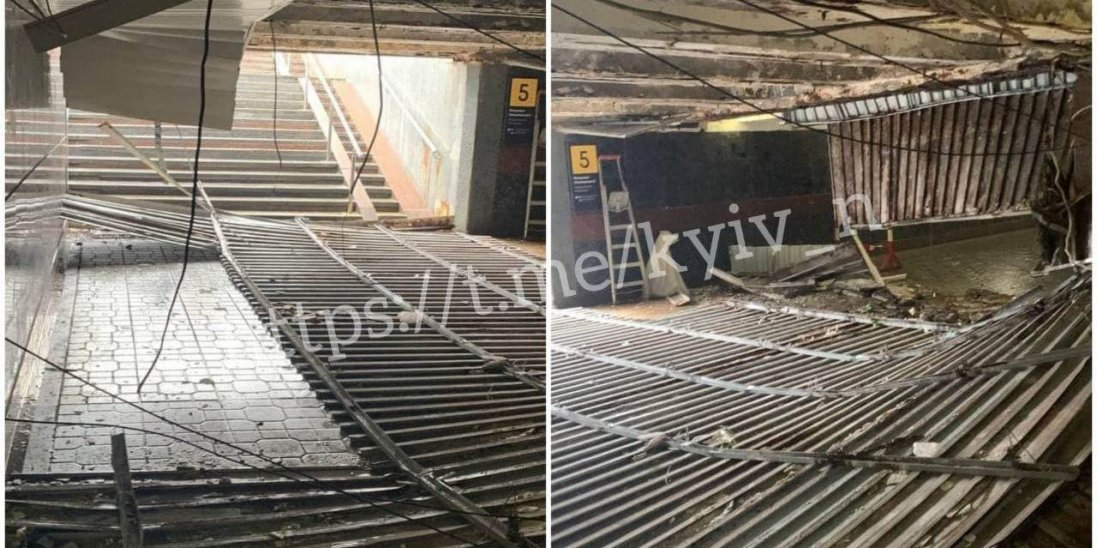 У Києві в метро обвалилася стеля: люди дивом уникнули травм