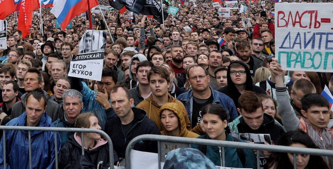 Протести в Росії: поліція застосовує електрошокери