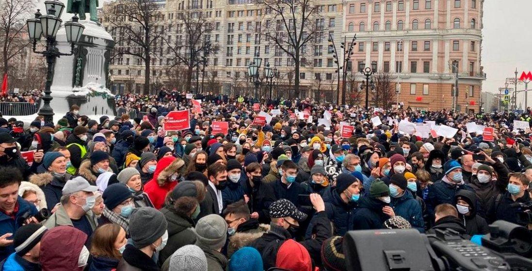 Наакції повсій Росії вийшли щонайменше 110 тисяч людей