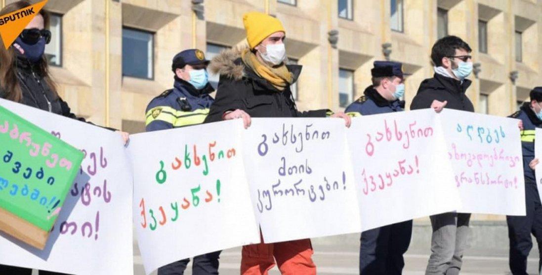 У Грузії протестують проти обмежень, введених через пандемію