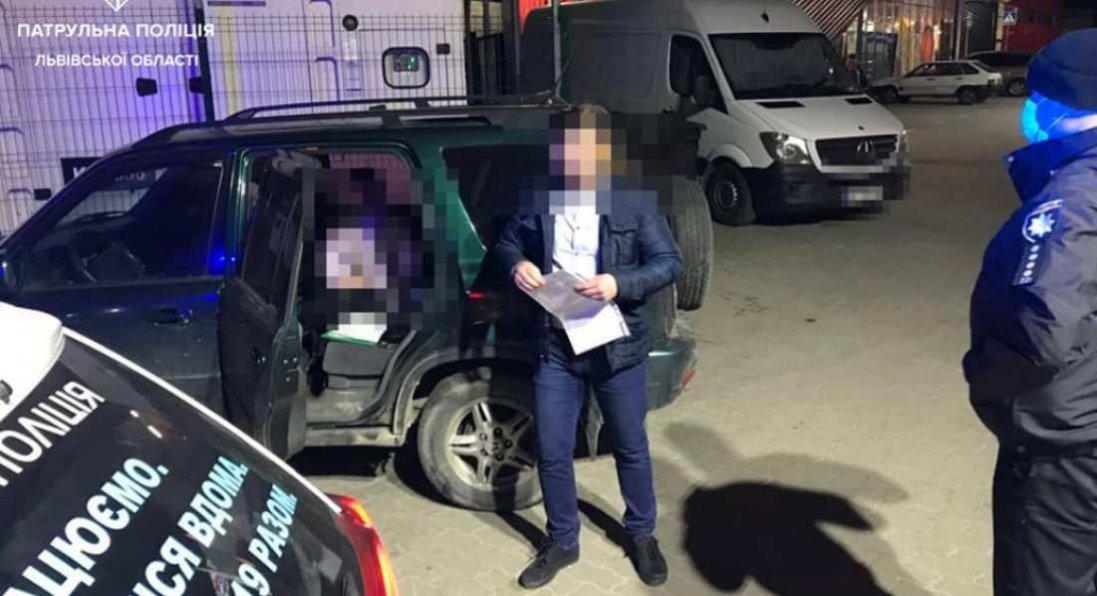 У Львові зупинили авто, за кермом якого їхала 14-річна дівчинка