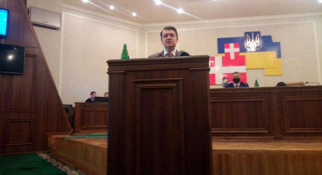 Дмитро Разумков приїхав до Луцька