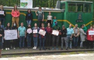 У Луцьку протестують проти закриття дитячої залізниці