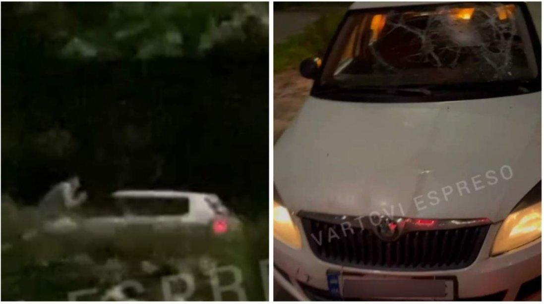 У Києві молодик проїхав 500 метрів на капоті авто, яким кермував п'яний