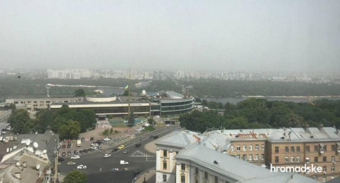 Київ накрила піщана буря