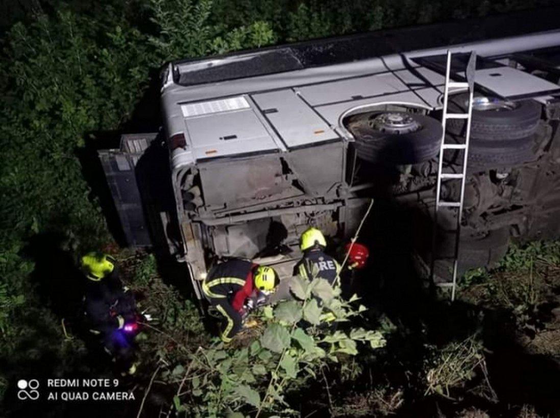 На Рівненщині перекинувся автобус Київ-Вроцлав: 16 постраждалих