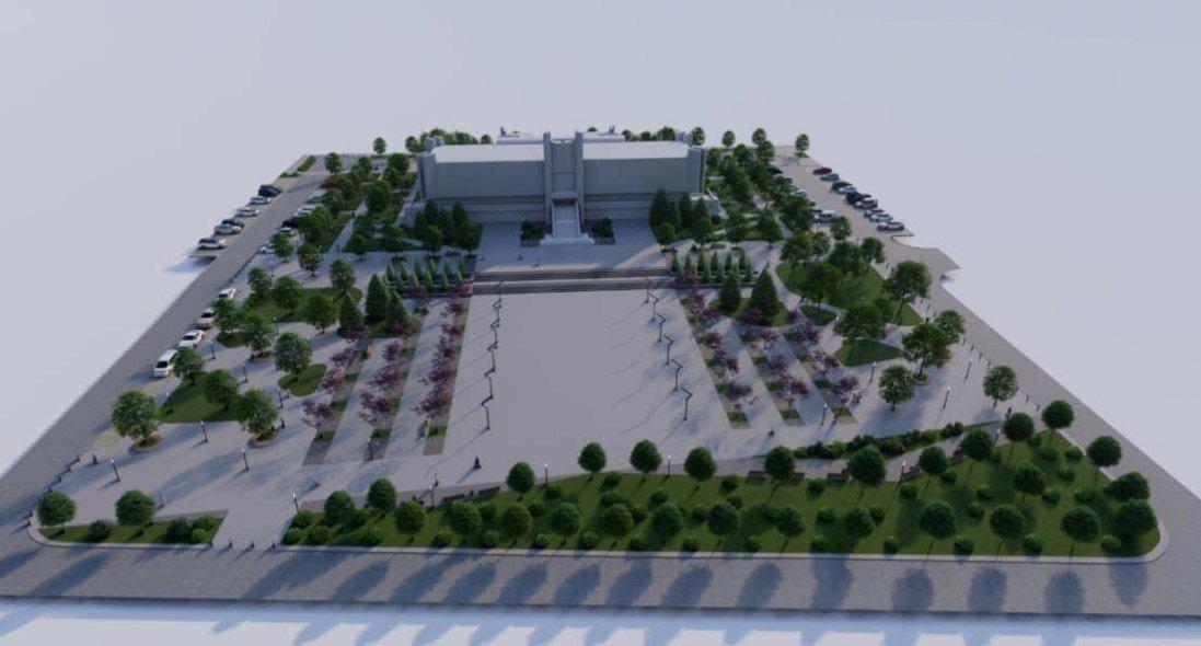 Як виглядатиме площа перед Палацом урочистих подій у Луцьку