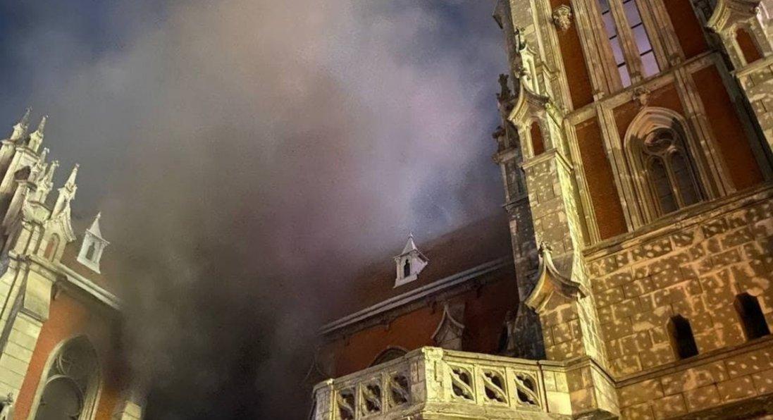 Пожежа в костелі Святого Миколая: що відомо