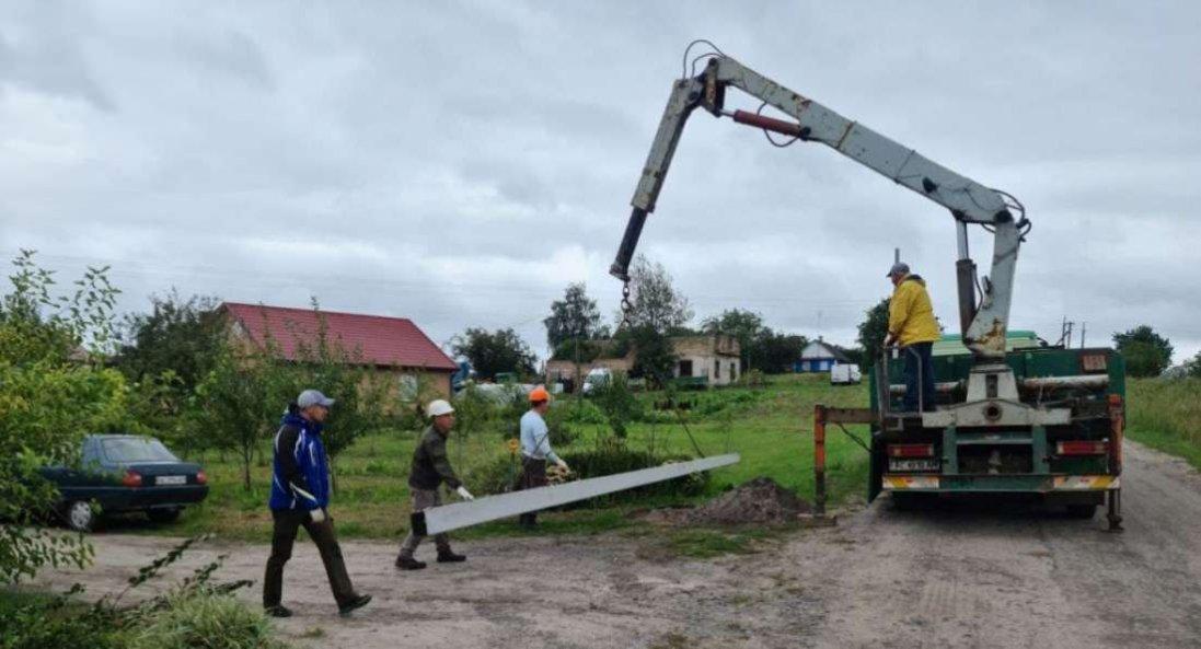 На Волині у двох селах завершують реконструкцію вуличного освітлення