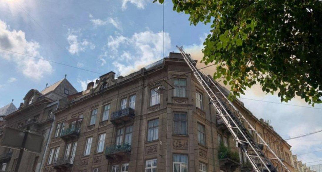 У Львові горів будинок, який є пам'яткою архітектури