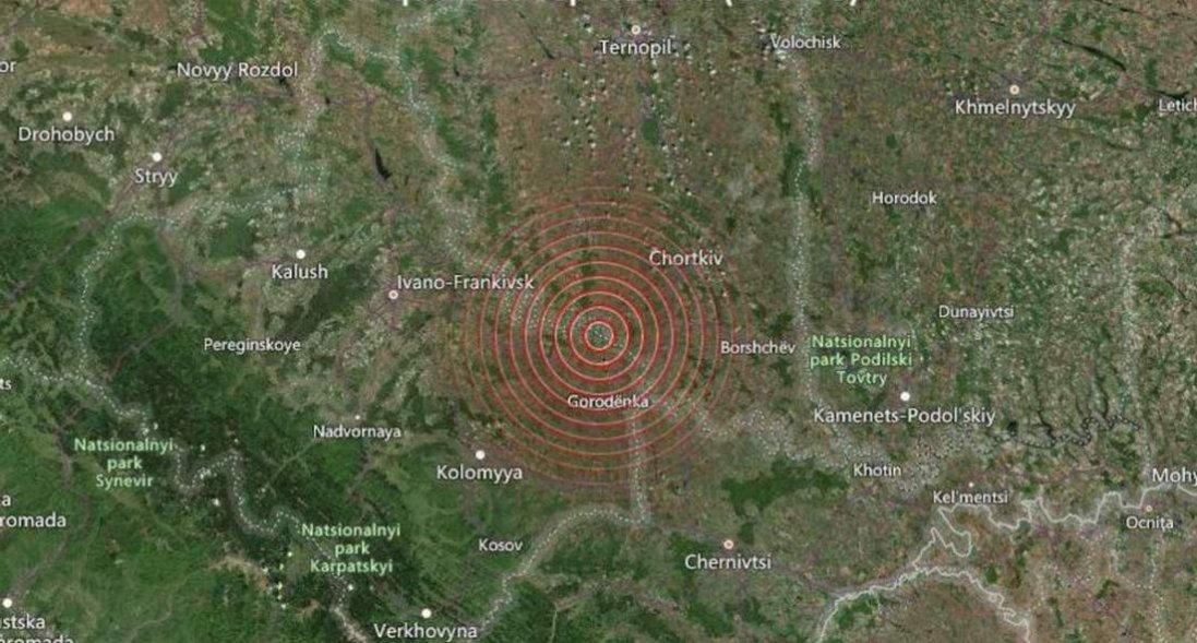 На Тернопільщині зафіксували землетрус магнітудою 4,4