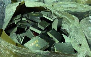 Порізали Слово Боже: в Броварах на переробку здали тисячі Біблій